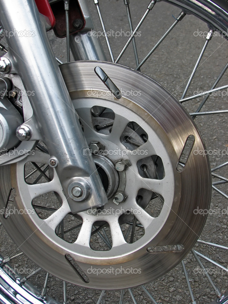 Motorcycle wheel.Motorcycle brakes on the wheel. — Stock Photo #8673803