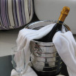 Stock Photo: Wine in bucket