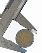 Euro in vernier — Stock Photo