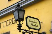 Market sign — Stock Photo