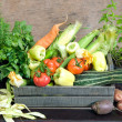 Fresh herbs and vegetables - Stock Photo