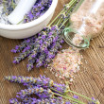 Lavender salt — Stock Photo