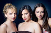 Three beautiful young woman — Stock Photo
