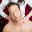 Shoulder massage — Stock Photo