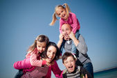 Happy family having fun — Stok fotoğraf
