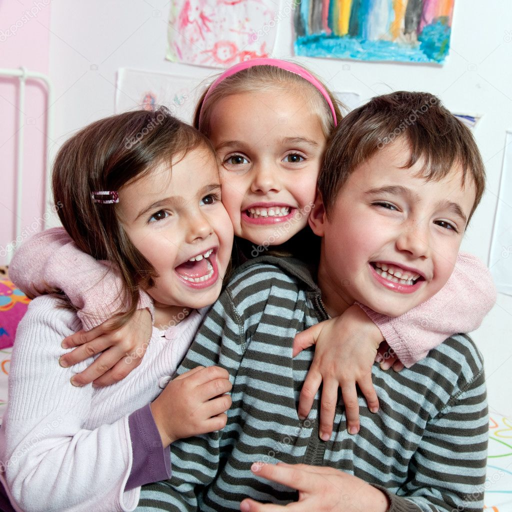 Happy children smiling  — Stock Photo #8407956
