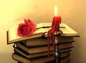 Old love books — Stock Photo