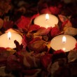 Three candles — Stock Photo #9491544