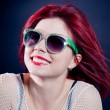 Smiling redhead girl — Stock Photo