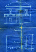 Old blueprint — Stock Photo