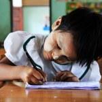 Young girl student at school, portrait, Myanmar — Stock Photo