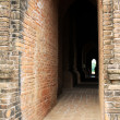 Red bricks corridor, temple in Bagan, Myanmar — Stock Photo