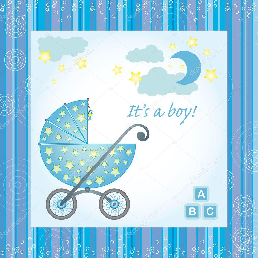 Kaart van de geboorte van baby jongen stockvector gretalorenz 10652072 - Baby boy versiering van de zaal ...