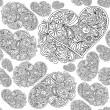 Heart seamless pattern — Vector de stock