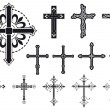 Stock Vector: Set of crosses