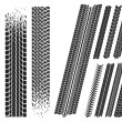 Set of different car tyre imprints — Image vectorielle