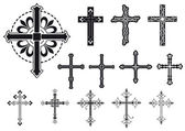 Set of crosses — Vector de stock