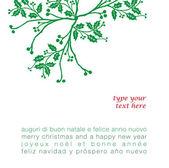 Biglietto auguri di Natale in quattro lingue — Stock Vector