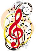 Sfondo astratto musicale — Stock Vector
