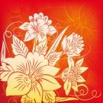Decorazione con fiore — Stock Vector