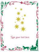 クリスマス フレーム — ストックベクタ