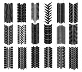 Different straight tyre imprints — 图库矢量图片