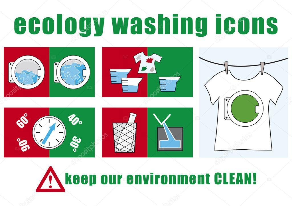 生态洗涤图标集 — 矢量图片作者