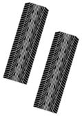 Couple of tyre imprints — Stock Vector