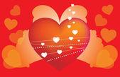 Sfondo astratto cuore con ali — Stock Vector