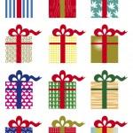 Pacchetti regalo — Stock Vector