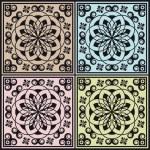 Abstract modular arabesque decoration — Stock Vector