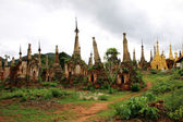 Ruins of ancient stupas and temples in Myanmar — Stock Photo