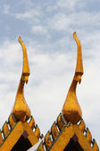 Spires on roof, Royal palace in Bangkok — Stock Photo