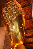 Buddha face profile in Royal Palace of Bangkok — Stock Photo