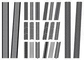 Set of tyre imprints — Stock Vector
