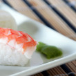 Sushi with prawn detail — Stock Photo #8997955