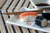 Sushi plate detail — Stock Photo