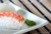 Sushi with prawn detail — Stock Photo