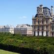 Louvre Museum and Tuileries garden in Paris — Stock Photo