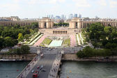 Paris, view on the Trocadero from Eiffel Tower — Stock Photo