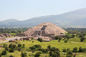 Moon pyramid in Teotihuacan, Mexico — Stock Photo
