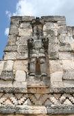 Warrior sculpture in yucatan, mexico — Stock Photo