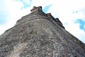 Uxmal pyramid, view from the base — Stock Photo