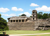 Royal palace in palenque — Stock Photo