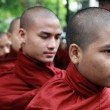 Teen-ager monks in myanmar — Stock Photo