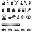 Motor and power icons — Stock Vector