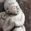 Myanmar wood sculpture detail — Stock Photo