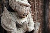 Myanmar wood sculpture detail — Stock Photo
