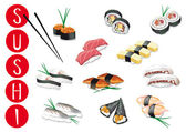 Sushi illustrations — Stock Vector