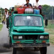 Overload and pollutant car in Myanmar — Stock Photo